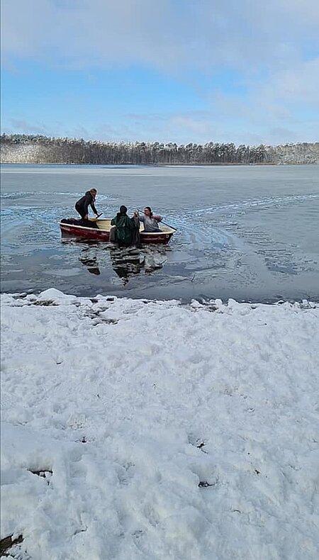 Rettungsaktion am Strand