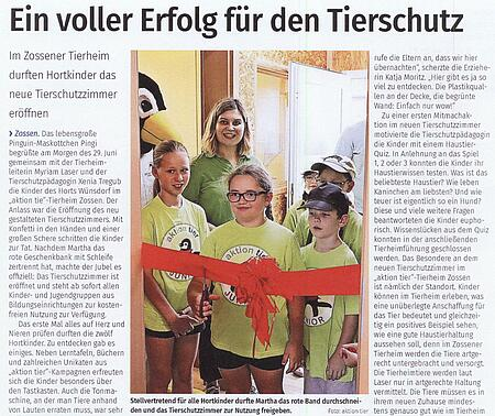 10. Juli 2021   Blickpunkt Potsdam   Ein voller Erfolg für den Tierschutz